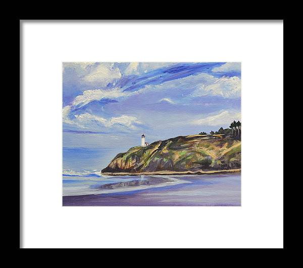 Painting Framed Print featuring the painting Port in a Storm by Mary Chant