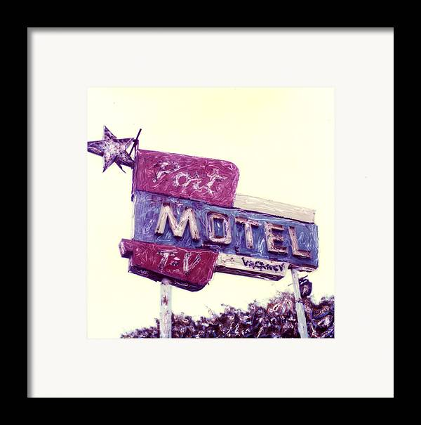 Polaroid Framed Print featuring the photograph Port Motel by Steven Godfrey