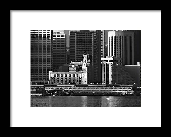 Port Framed Print featuring the photograph Port Of San Francisco by Mick Burkey