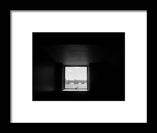 Bridge Framed Print featuring the photograph Portal 3 by Nancy Ferrier