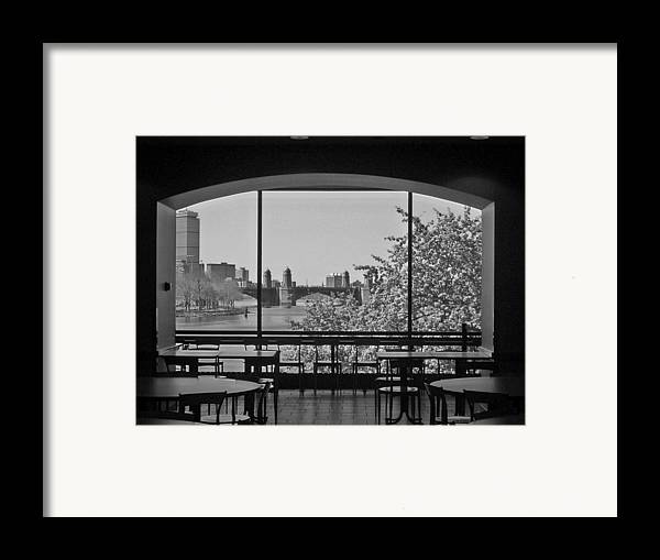 Window Framed Print featuring the photograph Portal To Spring by Nancy Ferrier