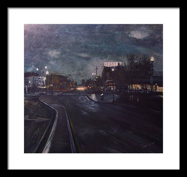 Landscape Framed Print featuring the painting Porter Square by Richard Ong