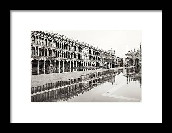 Venice Framed Print featuring the photograph Portici Nell'acqua 2130x by Marco Missiaja