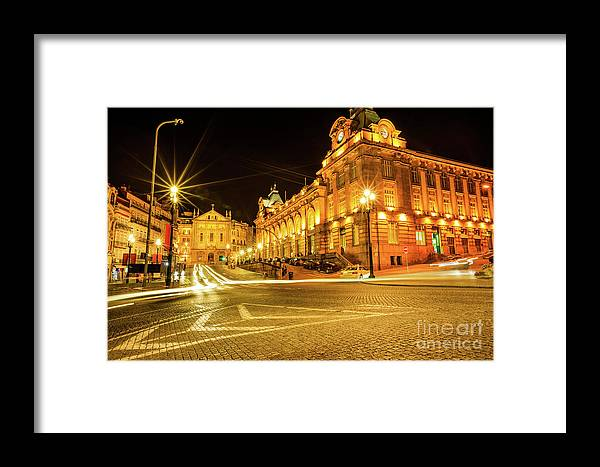 Porto Framed Print featuring the photograph Porto City By Night by Benny Marty