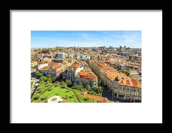 Porto Framed Print featuring the photograph Porto Panorama Skyline by Benny Marty