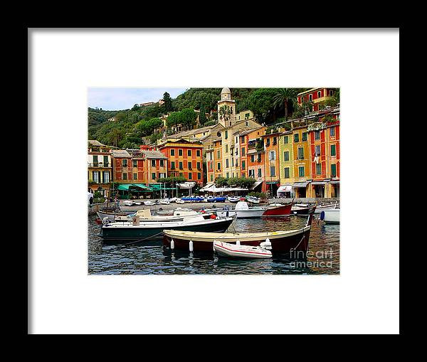 Portofino Framed Print featuring the photograph Portofino Italy by Nancy Bradley