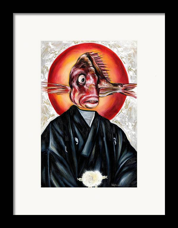 Japanese Framed Print featuring the painting Portrait by Hiroko Sakai