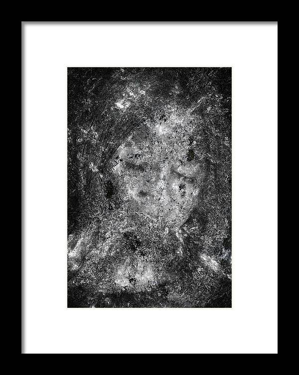 Abstract Framed Print featuring the digital art Portrait In Black by Randy Steele