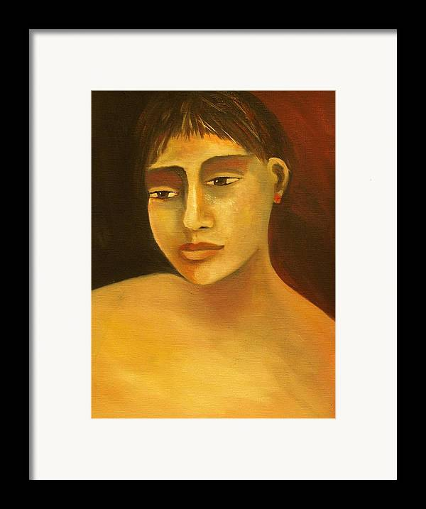 Portrait Framed Print featuring the painting Portrait Number Eight by Niki Sands