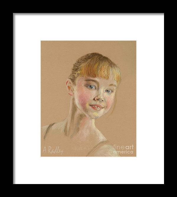 Portraits Framed Print featuring the painting Portrait Of A Dancer by Ann Radley