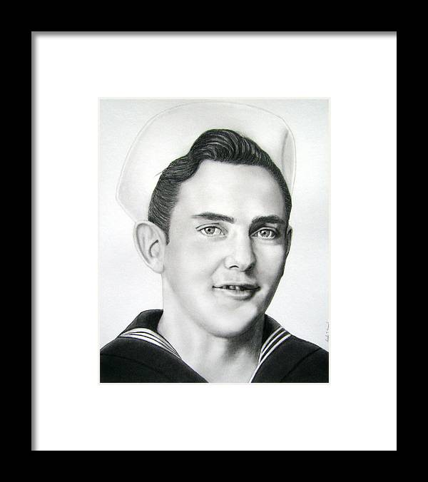 Portrait Framed Print featuring the drawing Portrait Of A Sailor by Nicole I Hamilton