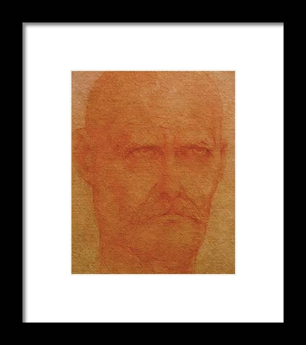 Portrait Framed Print featuring the painting Portrait Of An Artist by Gary Kaemmer