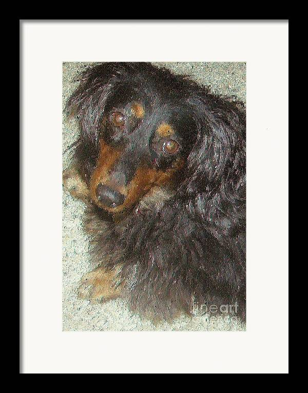 Portraits Framed Print featuring the painting Portrait Of Annie by Don Phillips