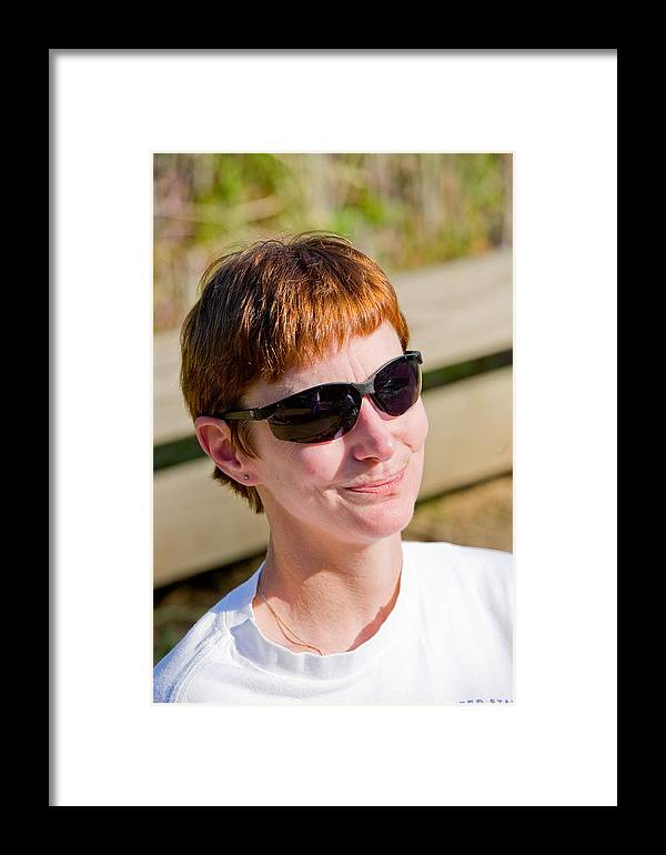 Blind Framed Print featuring the photograph Portrait Of Blind Woman by John Toxey