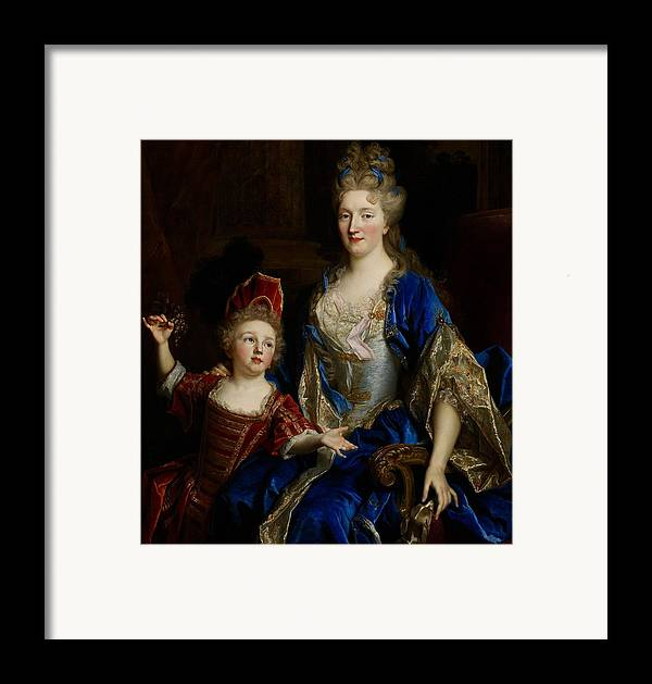 Portrait Framed Print featuring the painting Portrait Of Catherine Coustard by Nicolas de Largilliere