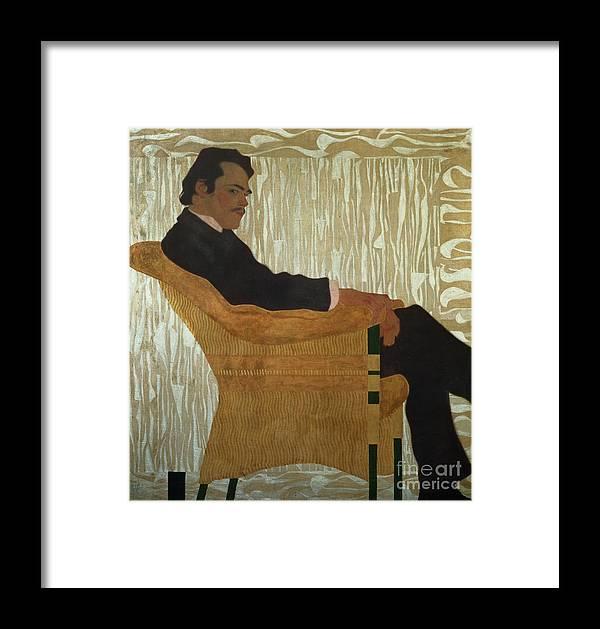 Portrait Of Hans Massmann Framed Print featuring the painting Portrait Of Hans Massmann by Egon Schiele