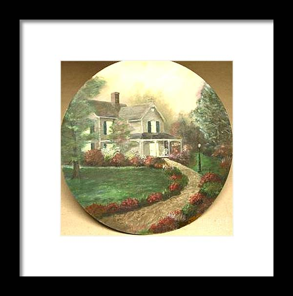 Portrait Of Home. I Framed Print featuring the painting Portrait Of Home by Nicholas Minniti