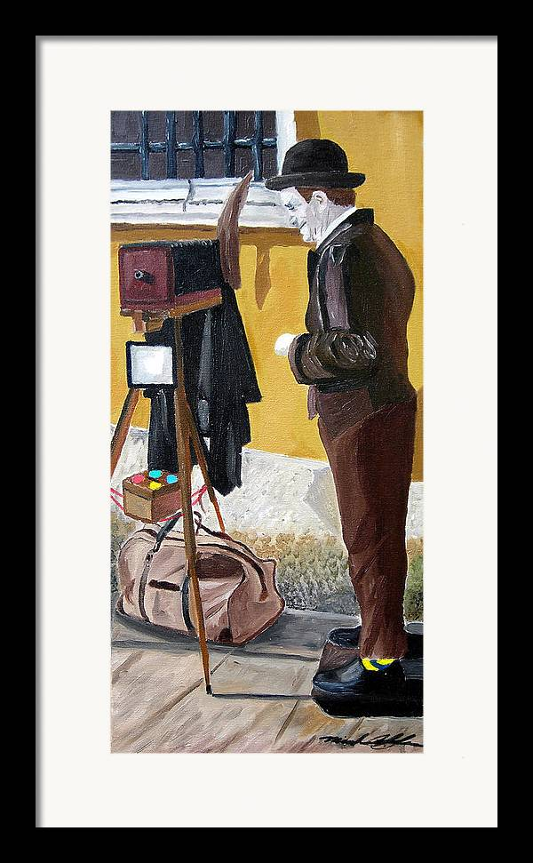 Mime Framed Print featuring the painting Portrait Of Identity by Michael Lee