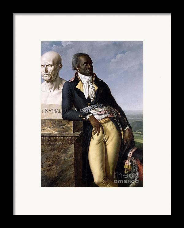 Portrait Framed Print featuring the painting Portrait Of Jean-baptiste Belley by Anne Louis Girodet de Roucy-Trioson