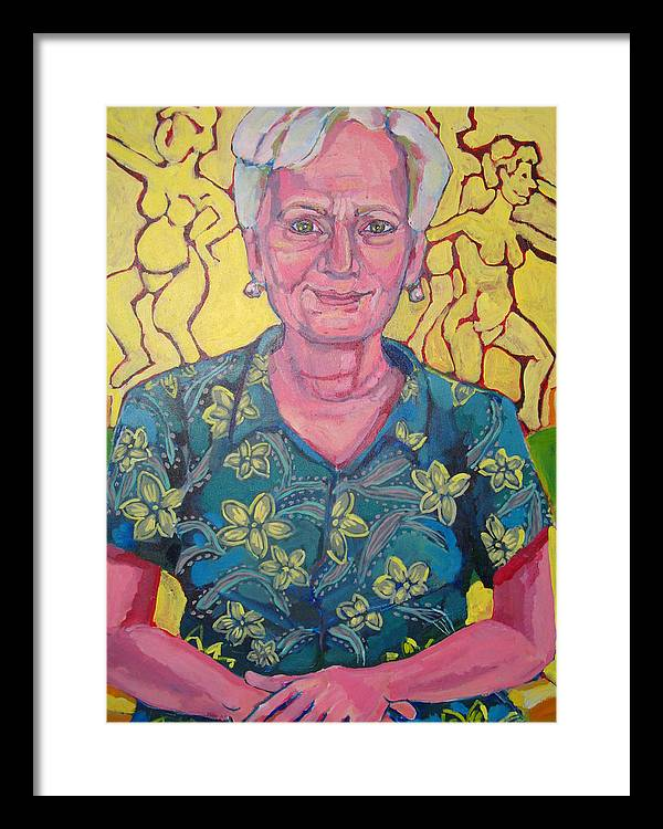 Portrait Framed Print featuring the painting Portrait Of Judy by Doris Lane Grey