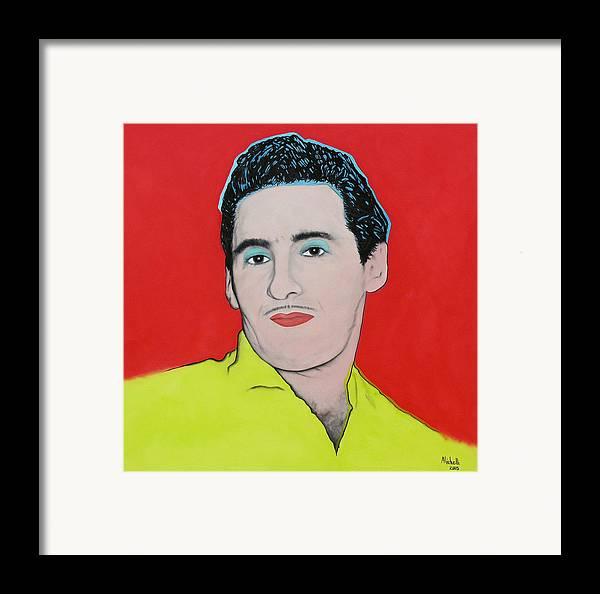 Portrait Framed Print featuring the painting Portrait Of My Father by Joe Michelli