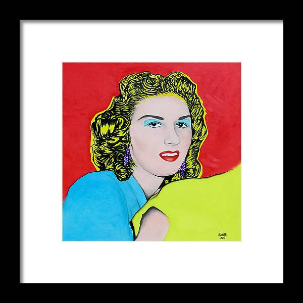 Portrait Framed Print featuring the painting Portrait Of My Mother by Joe Michelli