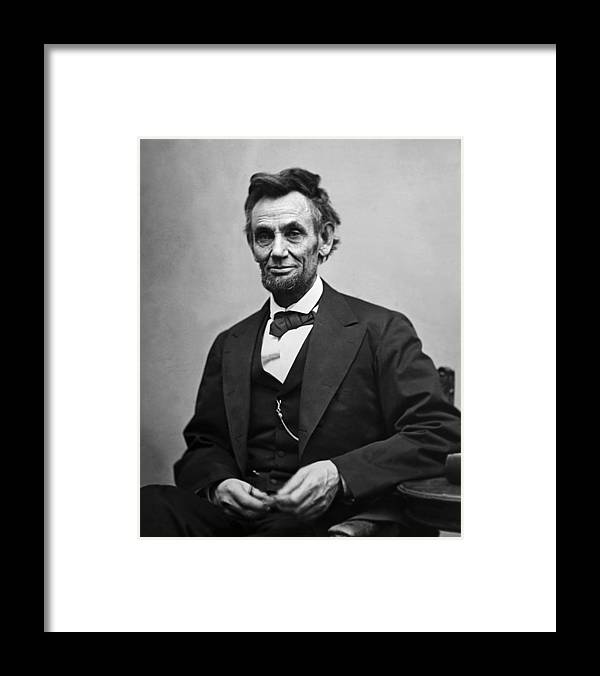 abraham Lincoln Framed Print featuring the photograph Portrait of President Abraham Lincoln by International Images
