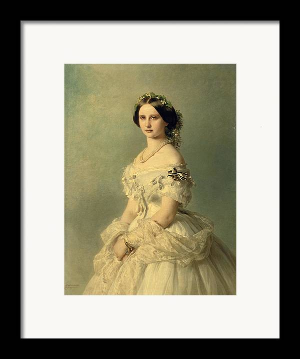 Portrait Framed Print featuring the painting Portrait Of Princess Of Baden by Franz Xaver Winterhalter