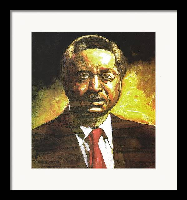 Reverend Leon Sullivan Framed Print featuring the painting Portrait Of Rev. Leon Sullivan by Michael Facey
