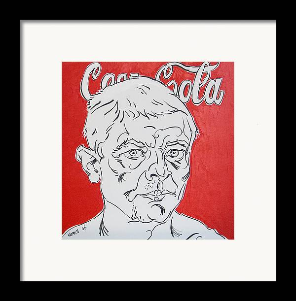 Coca Cola Framed Print featuring the painting Portrait With Coca Cola by Vitali Komarov