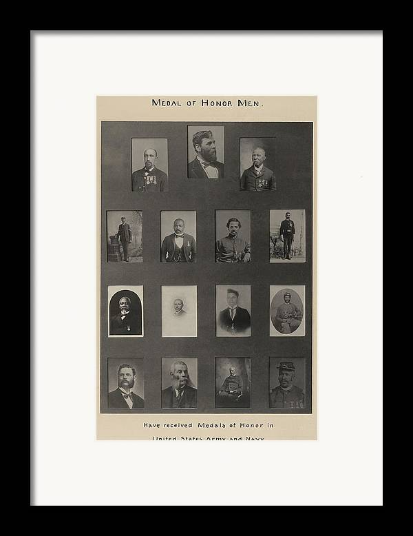 History Framed Print featuring the photograph Portraits Of 15 African American by Everett