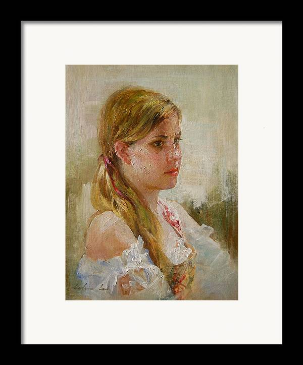 Portrait Framed Print featuring the painting Portraiture by Kelvin Lei