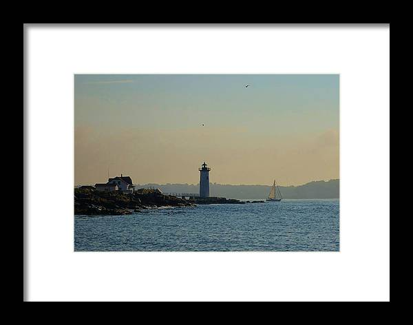 Portsmouth Framed Print featuring the photograph Portsmouth Harbor Lighthouse by Red Cross
