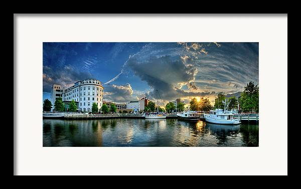 Portsmouth Framed Print featuring the photograph Portsmouth Sunset by Williams-Cairns Photography LLC
