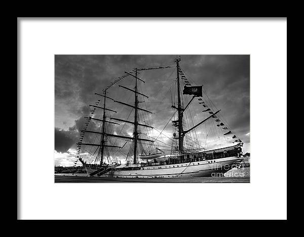Brig Framed Print featuring the photograph Portuguese Tall Ship by Gaspar Avila
