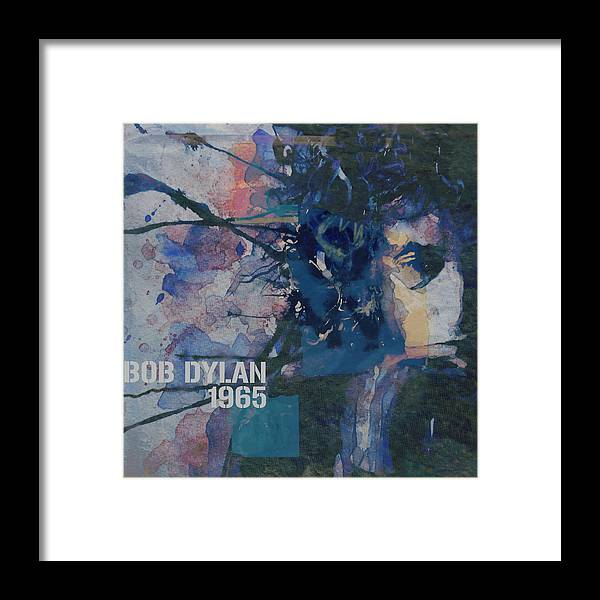 Bob Dylan Framed Print featuring the painting Positively 4th Street by Paul Lovering