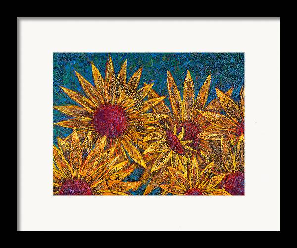 Flowers Framed Print featuring the painting Positivity by Oscar Ortiz