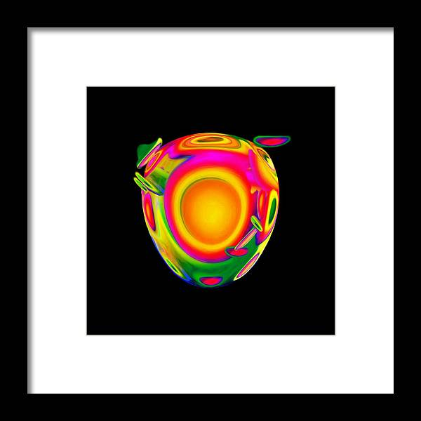 Egg Framed Print featuring the mixed media Possibilities by Jacqueline Migell