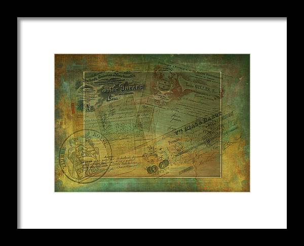 Collage Framed Print featuring the digital art Post Haste by Sarah Vernon