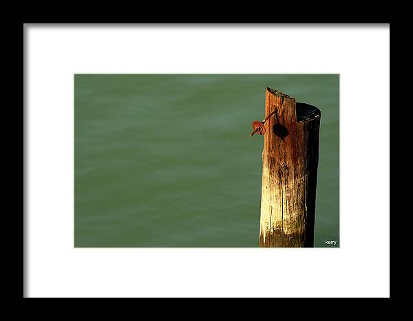 Post Framed Print featuring the photograph Post With Rust by Kerry Reed