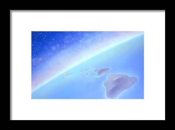 Hawaiian Islands Framed Print featuring the painting Postcards From Concorde by Kevin Smith