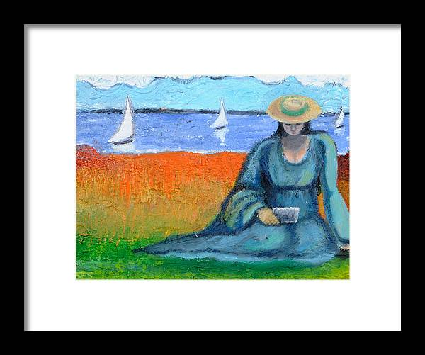 Cape Cod Framed Print featuring the painting Postcards From Home by Susan Stewart