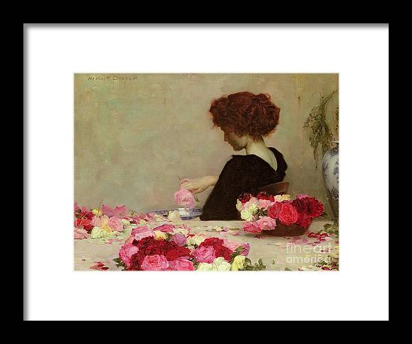 Female Framed Print featuring the painting Pot Pourri by Herbert James Draper