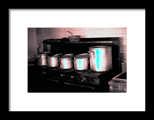 Interiors Framed Print featuring the photograph Pots by Michael Morrison