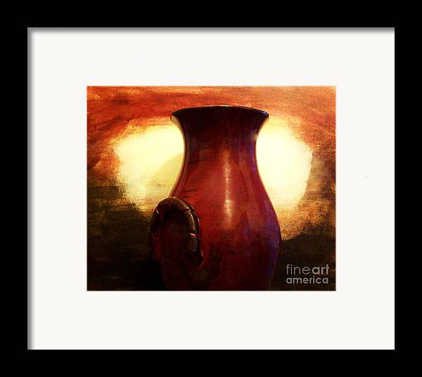 Photo Framed Print featuring the photograph Pottery From Italy by Marsha Heiken