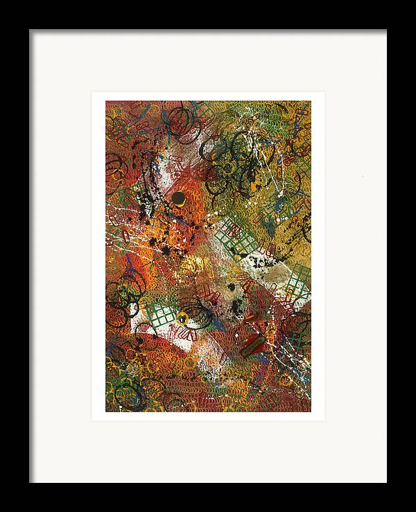 Abstract Framed Print featuring the painting Pour La Pluie by Dominique Boutaud