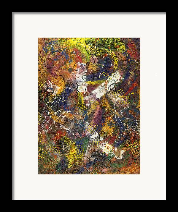 Abstract Framed Print featuring the painting Pour La Ville by Dominique Boutaud