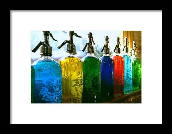 Food And Beverage Framed Print featuring the photograph Pour Me A Rainbow by Holly Kempe
