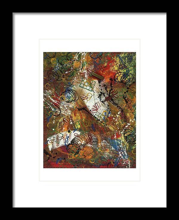 Abstract Framed Print featuring the painting Pour Pied Sensible by Dominique Boutaud