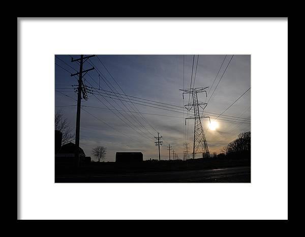 Sunsets Framed Print featuring the photograph Power Grid by Daniel Ness